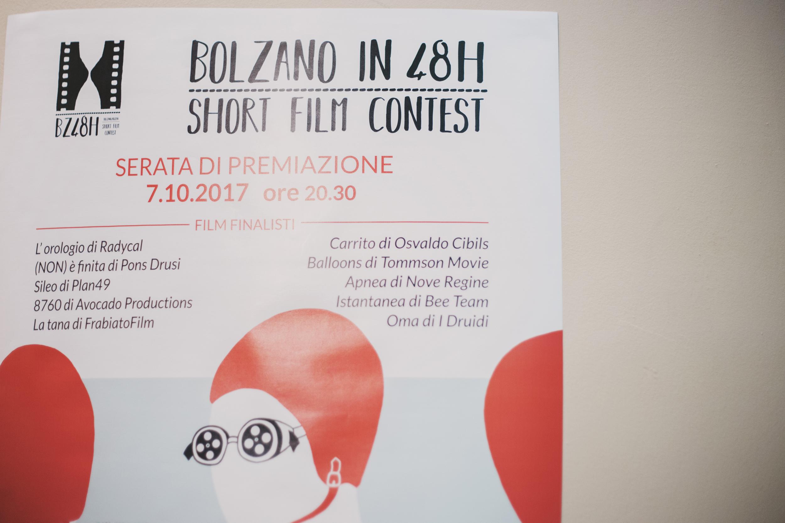 Bolzano in 48h - Short Film Contest - Bolzano (Italy) on Cinemabreve.org