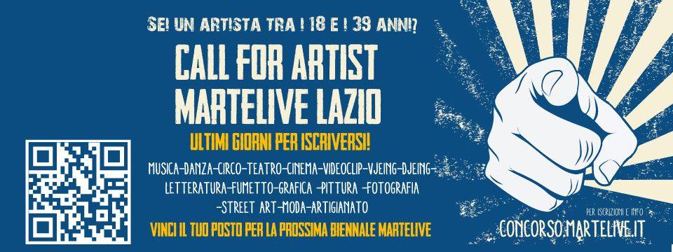 Logo of Open Call MArteLive Lazio