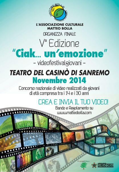 """Logo of """"Ciak... un'emozione"""" videofestivalgiovani"""