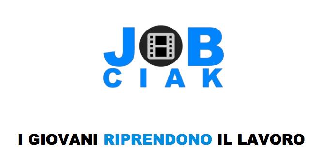 Logo of JOB CIAK. I giovani riprendono il lavoro